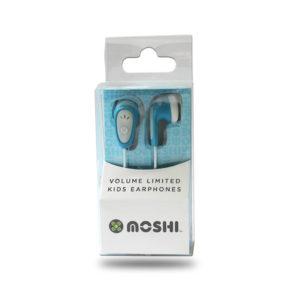 Moshi kids earphones in blue
